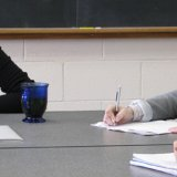 Students in Composition and Rhetoric class