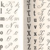Detail of Udi Latin alphabet table from a 1934 book.