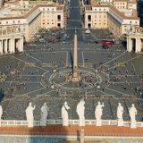 A view of St. Peter's Square in Vatican City.