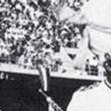Black and white photograph of Willie Hill, in drum major uniform