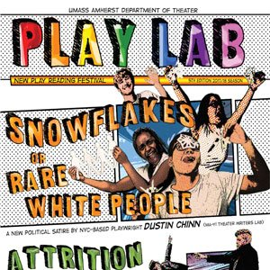 UMass New Play Lab flyer: Snowflakes
