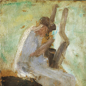 Detail from Nickolaos Gyzis, Sappho playing the lyre, 19th century, Private collection.