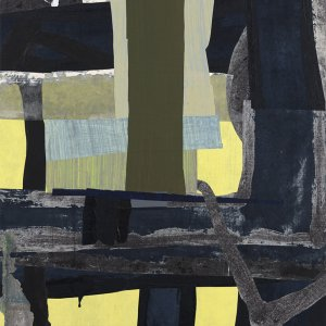 Detail from a painting featured in Building Collage