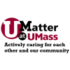UMatter @ UMASS logo: Actively caring for each other and our community
