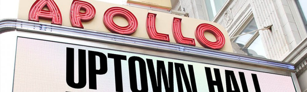 The famous marquee of New York's Apollo Theater