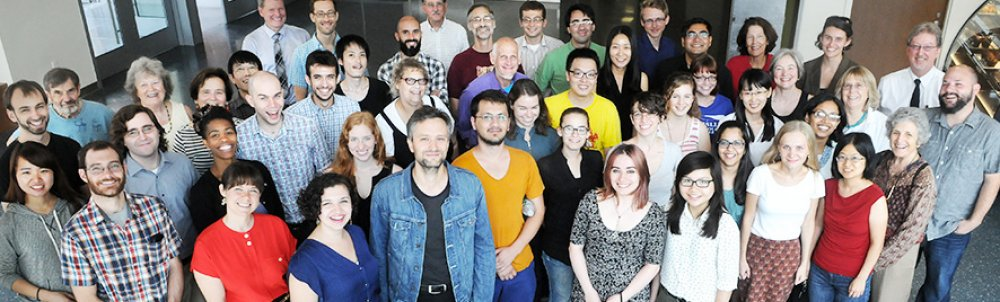 a group picture of Linguistics faculty and graduate students
