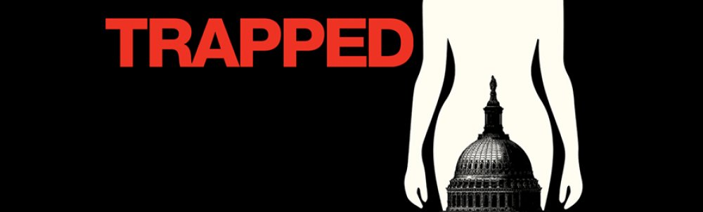 """Detail from a poster advertising """"Trapped"""""""