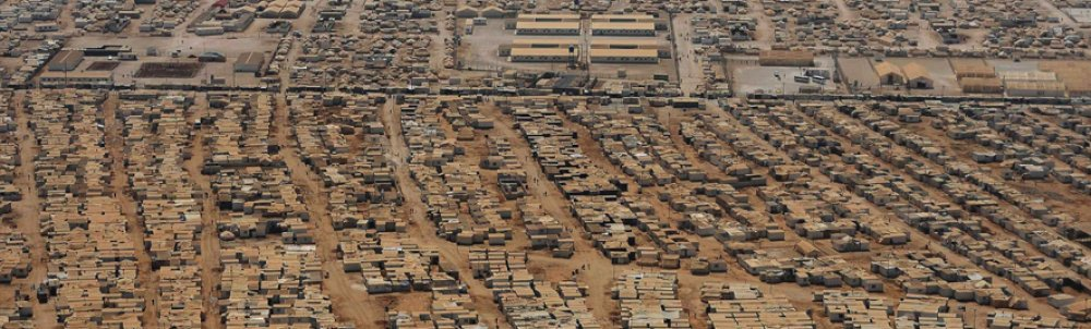 Aerial view of Zaatari Refugee Camp in Jordan