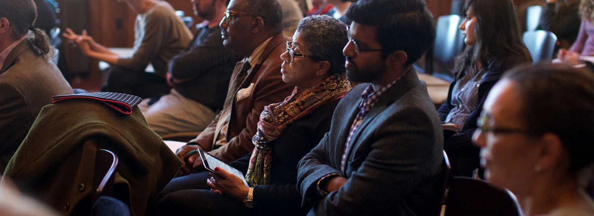 Photograph of audience members at the Annual Lecture