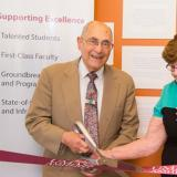 Luis Greenbaum and his wife inaugurating the Honors College at UMass