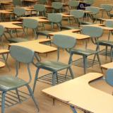 Picture of rows of school desks