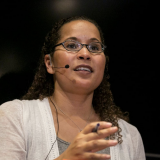 """Vanessa Tyson at a CASBS Symposium: """"Betrayal and Courage in the Age of #MeToo,"""""""