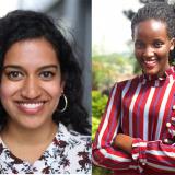 Headshots of Varshini Prakash and Vanessa Nakate