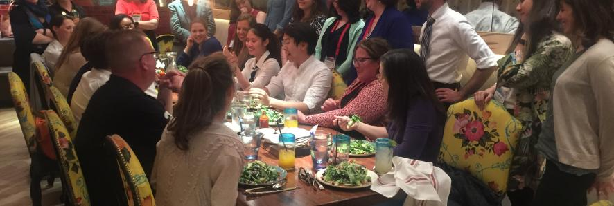 Group shot at a restaurant