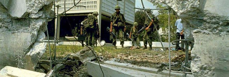 American Soldiers in the Aftermath of the Tet Offensive in Saigon, 1968