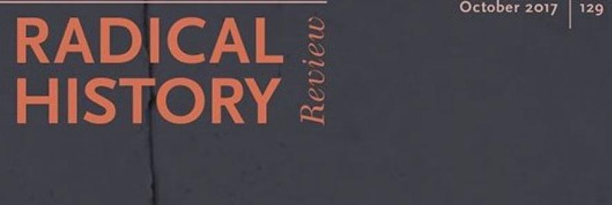 Radical History review cover, cropped to the title only