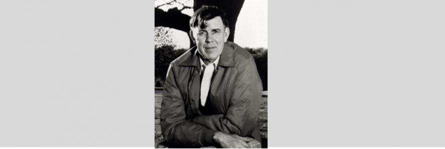 Black and white portrait of David Wyman