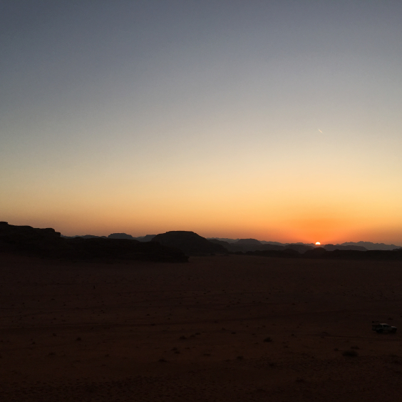 The landscape of the Wadi Rum desert