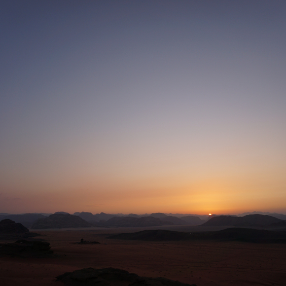 The Wadi Rum Desert in Jordan