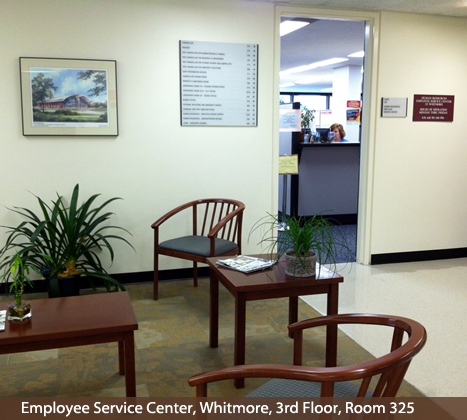 Employee Service Center, Room 325, Whitmore
