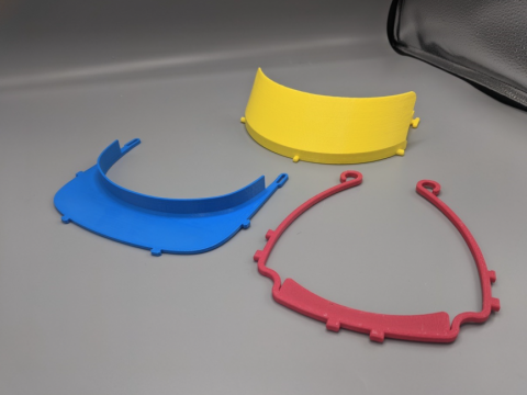 3D Printed Designs for Face Shields