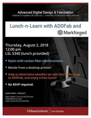 ADDFab Lunch-n-Learn with Markforged