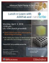 ADDFab Lunch-n-Learn with Nanoscribe
