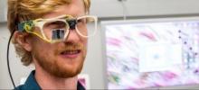 Participant wearing smart eyeglasses.