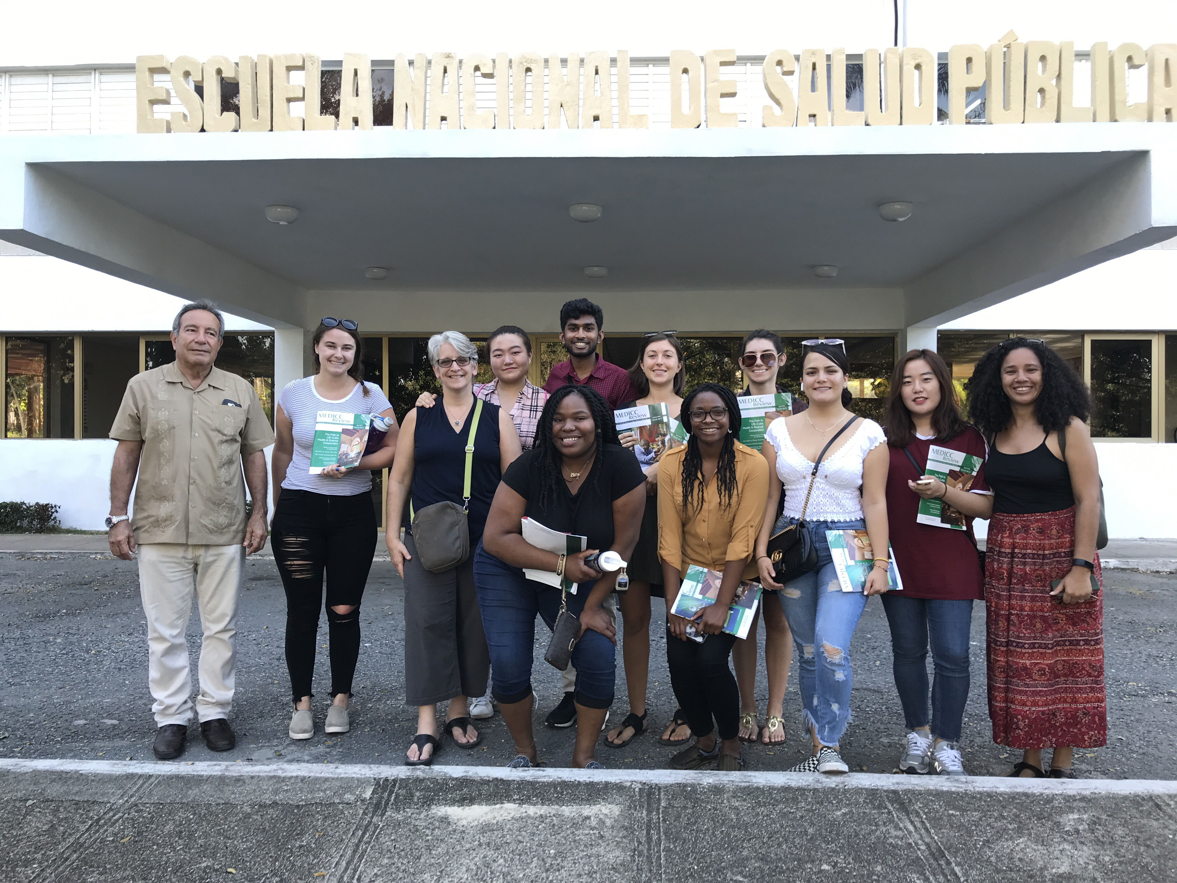 Students from the UMass Public Health in Cuba program