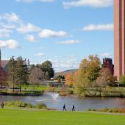 The library at UMass Amherst