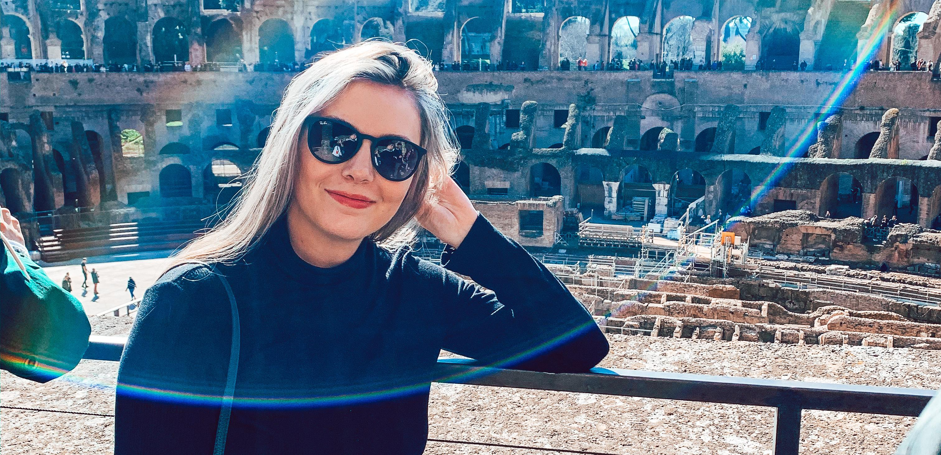 Nichole Morin '21 in Italy