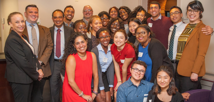 A group photo of 15 Emerging Scholars in Commonwealth Honors College