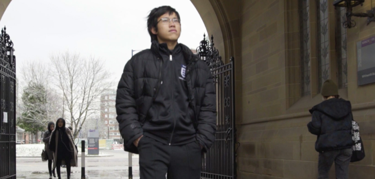 """Bao """"Terry"""" Cao '19, a UMASS student double majoring in sociology and sport management from Ho Chi Minh City, Vietnam"""