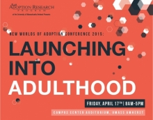 LAunching into Adultihood Event Poster with Date and Location