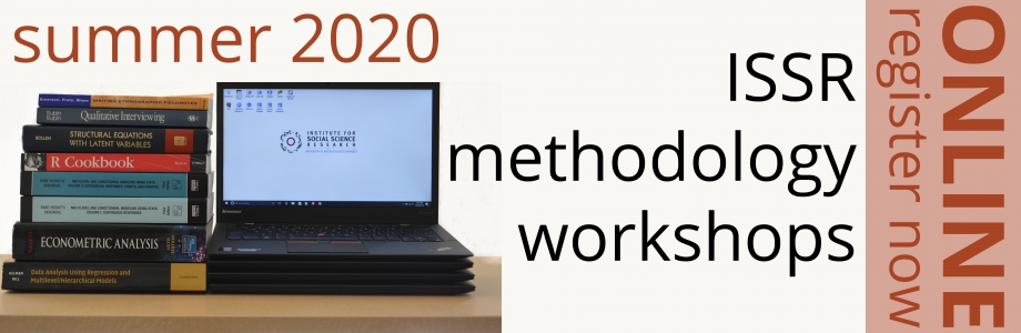 summer 2020 ISSR methodology workshops online. register now.