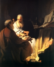 Rembrandt. Two Philosophers in Conversation