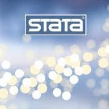 Stata logo in blue with yellow and white dots