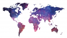GIS projection map of world, downloaded from UMass Amherst GIS Hub