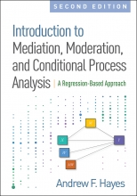 Book cover: Introduction to Mediation, Moderation and Conditional Process Analysis: a regression-based approach by Andrew F. Hayes