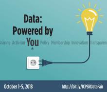 ICPSR data fair: data: powered by you.