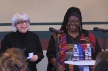 Rickie Solinger and Loretta Ross addressing seminar