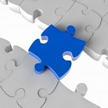 Puzzle piece bridge the gap