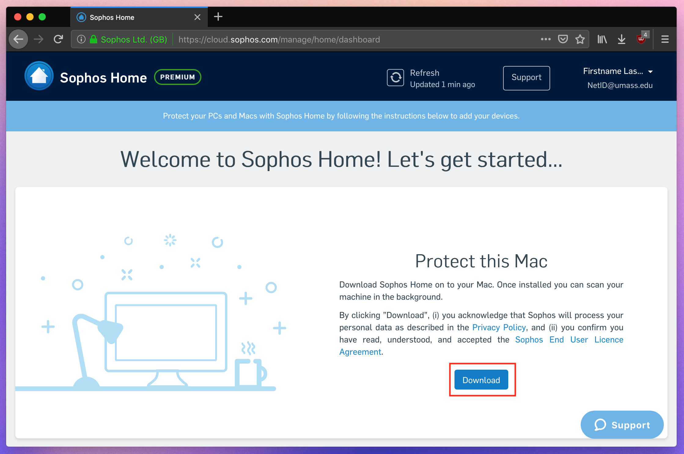 Install Sophos Endpoint Protection for Personally-Owned