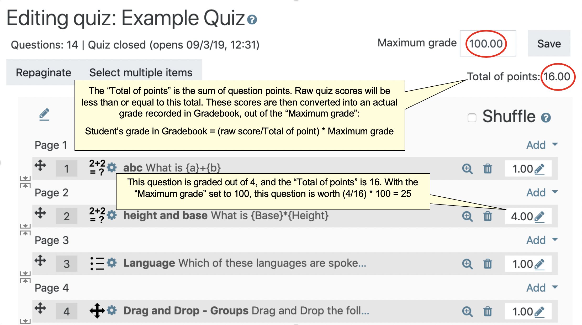 Administer, Review, and Grade a Moodle Quiz | UMass Amherst