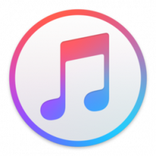 itunes logo - a music note in a white circle