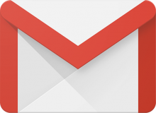 google mail icon, a stylized envelope with a red M shape