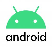 android logo - a stylized green robot head over the word android in a rounded font