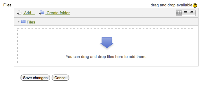 Students and instructors can drag and drop files into the File Picker