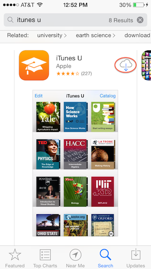 Access iTunes U on a Mobile Device | UMass Amherst Information