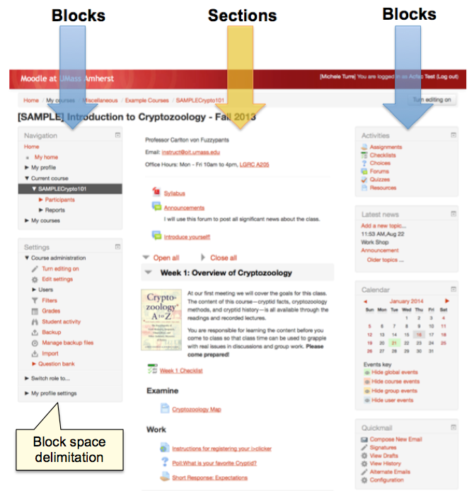 Add Remove Blocks In Moodle Umass Amherst Information Technology